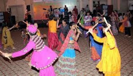 Dandiya and Garba is a community Music And Dance Festival
