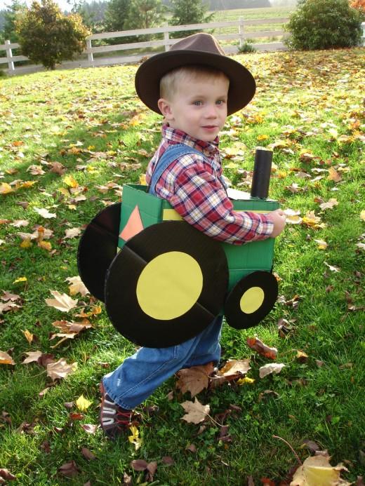 John Deere farmer and tractor costume
