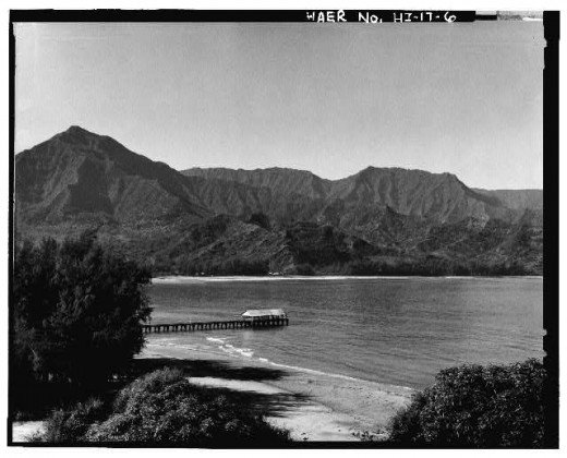 View of Hanalei Pier.  Photograph taken by R.J. Baker.