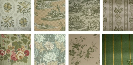 Green wallpapers from Clarence House, Lee Jofa, William Morris, Thomas Strahan and Others. Available at RestorationFabricsandTrims.com and
