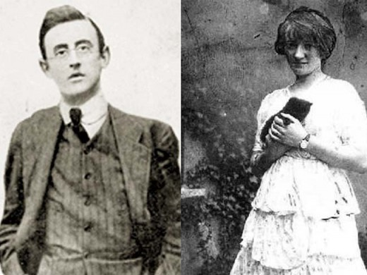 Joseph Plunkett and Grace Gifford.