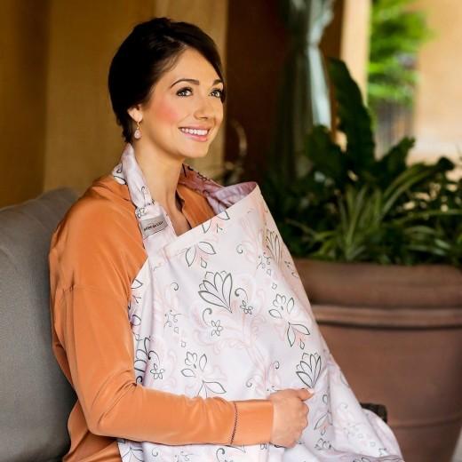Bebe Au Lait Cotton Nursing Cover - Flora