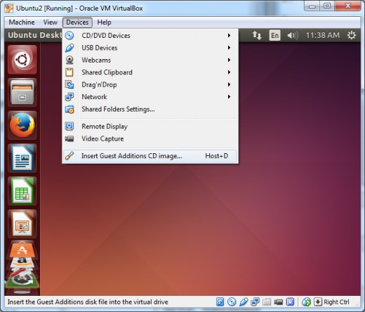 Load VirtualBox Guest Additions CD