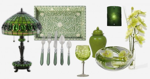 Montage of Decorative Green Accessories by ChezChazz