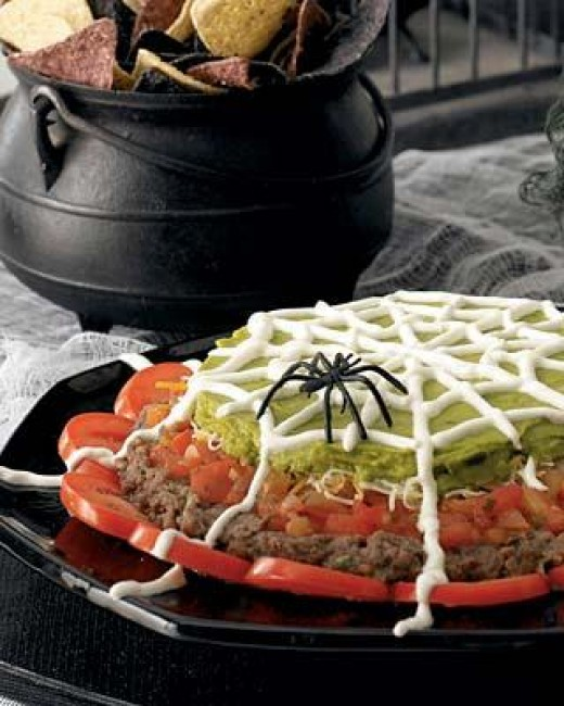 Spider Web Mexican 7 Layer Dip Recipe