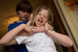 Despite the bucolic idea that all siblings get along,such is not always the case.It isn't uncommon for siblings to hit, bite, kick, &otherwise physically attack other siblings. Sibling rivalry is a natural occurrence in multichild famlies.