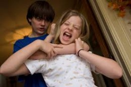 Despite the bucolic idea that all siblings get along,such is not always the case.It isn't uncommon for siblings to hit, bite, kick, &otherwise physically attack other siblings. Sibling rivalry is a natural occurence in multichild famlies.