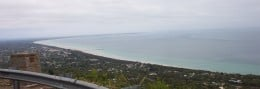 View of Mornington Peninsula and Port Phillip from Arthurs Seat in Victoria (Australia).