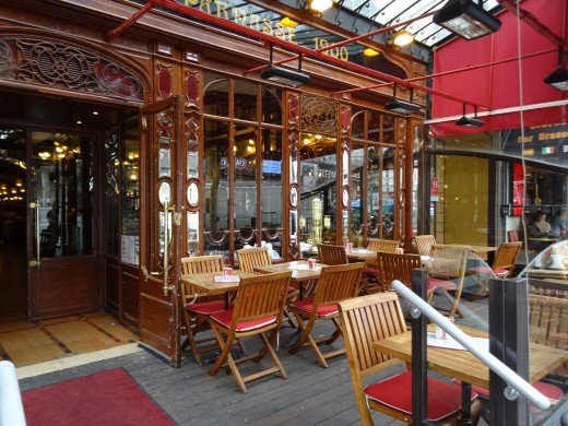 Nice Cafe where we had lunch in the Paris side streets