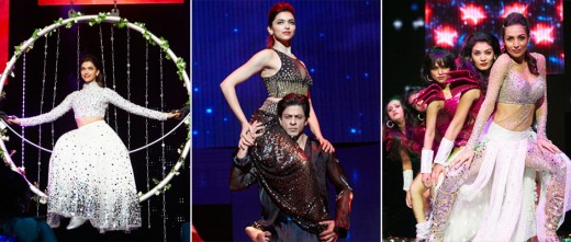 Bollywood actor Shah Rukh Khan, Deepika Padukone and the team of Happy New Year have kick-started their Bollywood extravaganza show- Slam! The Tour. The team of Happy New Year set the stage on fire with their mesmerizing performances during their pro