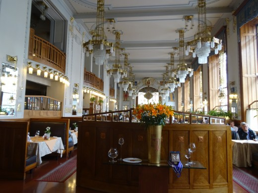 The stylish restaurant in the Municipal House, Prague