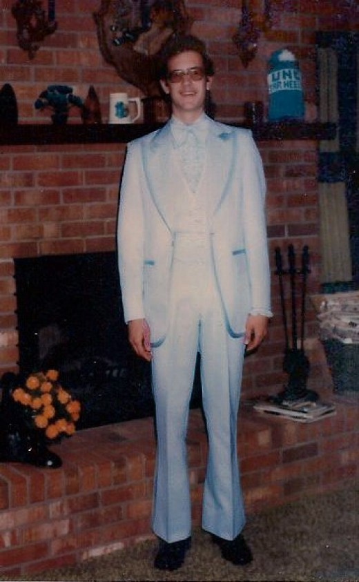 The author in 1978 heading for the senior prom. It was the Disco Era. Think John Travolta.