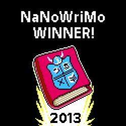 My NaNoWriMo badge from 2013.