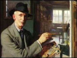 Fred Elwell self portrait-Beverley Gallery