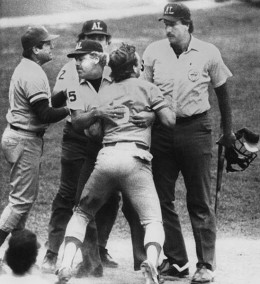 Upon Hearing That His Home Run Was Taken Back George Brett Respectfully Voiced His Objection