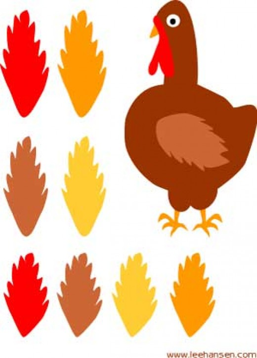 Turkey and Feathers Craft Sheet