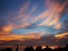 A sunset to precede the cloak of night.