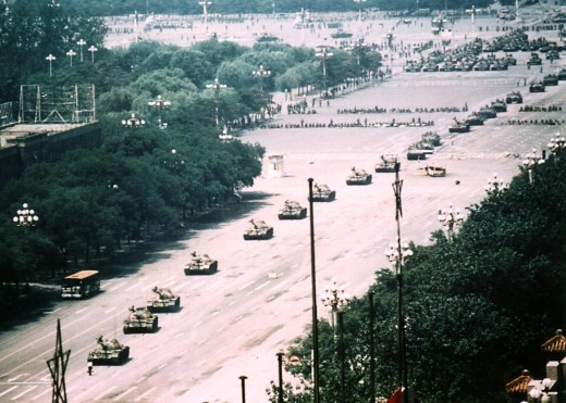 The 1989 Tianamen Square was a large scale protest by Chinese students crushed by the government. Though it goes to extreme lengths to control information about the event in part to further national pride as envisioned by the Communist government