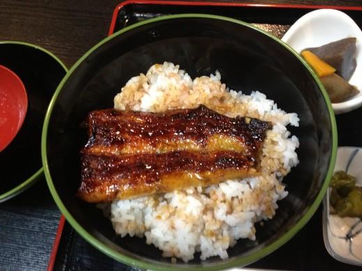 Unagi... (Delicious Eel) over rice.