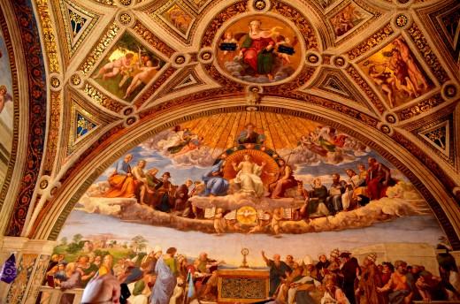 Stanze di Raffaello contains the frescoes that Raphael painted