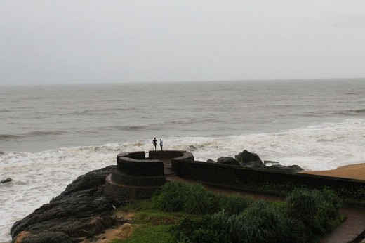 The stunning view of Bekal Fort, Kasaragod