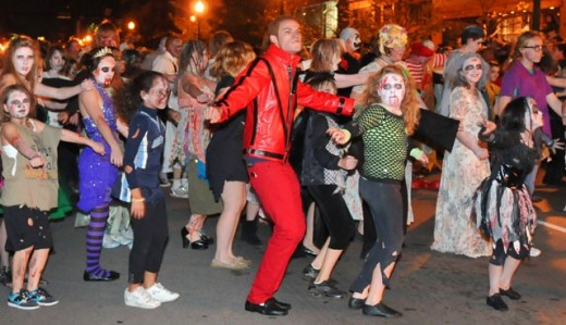 Thriller and Halloween Parade in Lexington, Kentucky