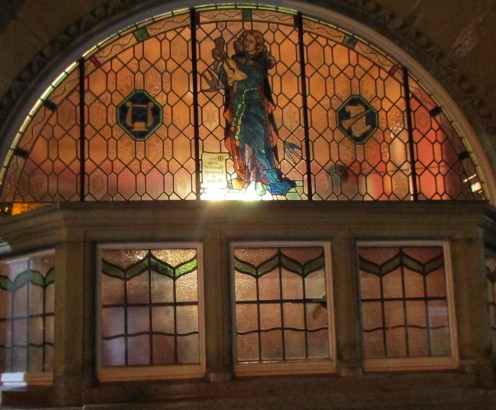 Windows of the Philarmonic Pub,Liverpool