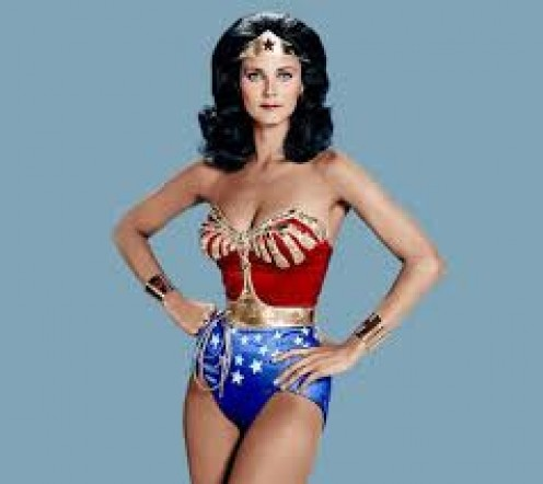 "Lynda Carter as ""Wonder Woman"""