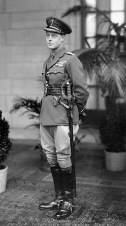 Edward, Prince of Wales, during his visit to Canada in 1919