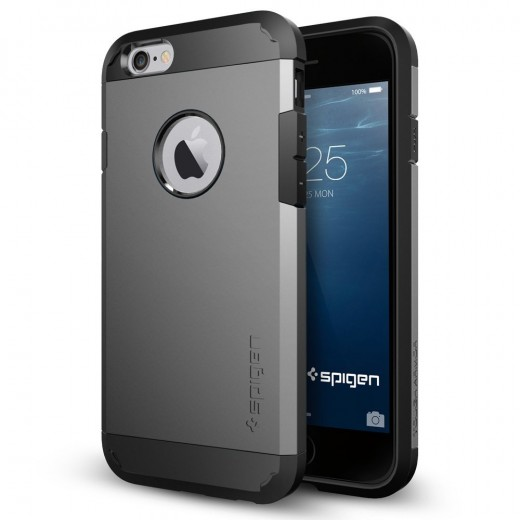 If you're looking for a case that is both rugged and meets your budget, the Spigen Tough Armor Case fits the bill. Available in 9 different colors.