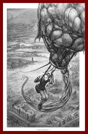 Illustration by Keith Thompson from Leviathan by Scott Westerfeld.