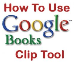 How to use the google book clip tool hubpages how to use the google book clip tool stopboris Gallery