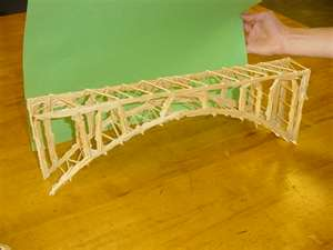 Toothpick model of the Adolphe Bridge