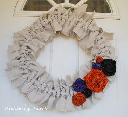 Shabby Canvas Wreath
