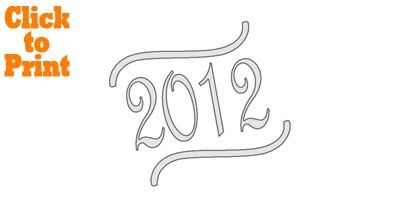 2012 Script Stencil