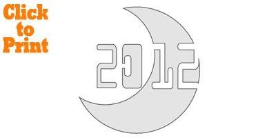 2012 Moon Pumpkin Stencil