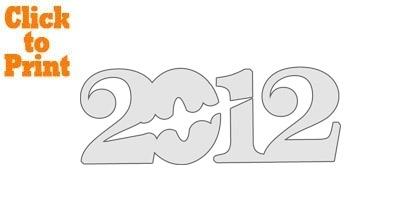 2012 Bat Pumpkin Stencil