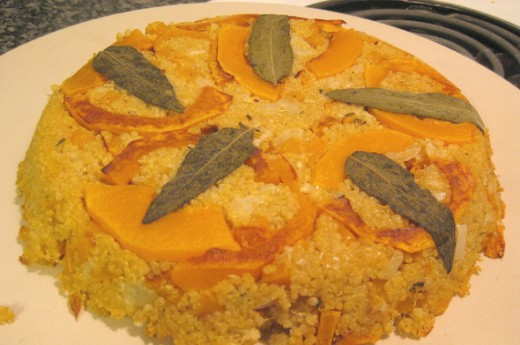 Butternut Squash Quinoa Pie