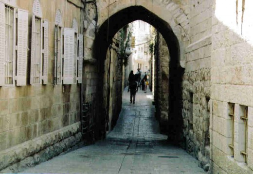 A street in the Jewish Quarter of the Old City of Jerusalem.