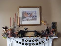 Country Halloween Mantle