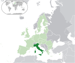 Map showing Italy