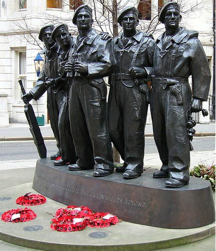 Whitehall memorial commissioned by the Royal Tank Regiment