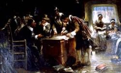 Signing Mayflower Compact