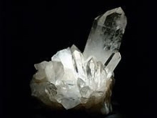Quartz crystal from Mount Ida