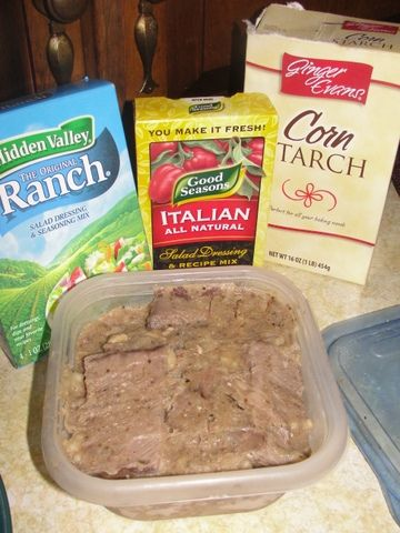 Frozen pot roast (made in the crock pot) ready for dinner in 5 minutes