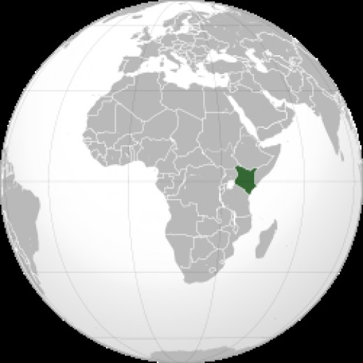 Map showing Kenya