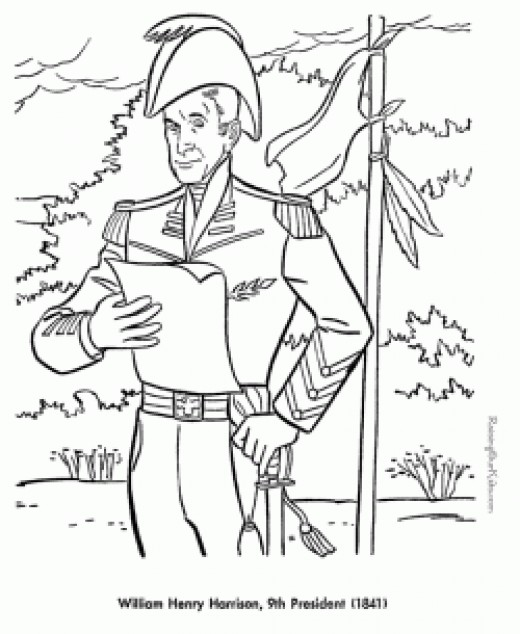 Image credit: http://patrioticcoloringpages.com/presidents/09-William-H-Harrison/001-william-h-harrison-coloring-pages.html