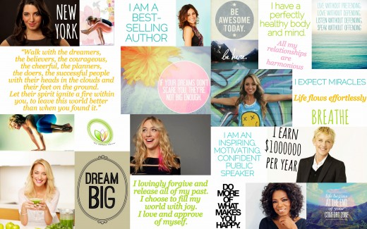 An example of a vision board.