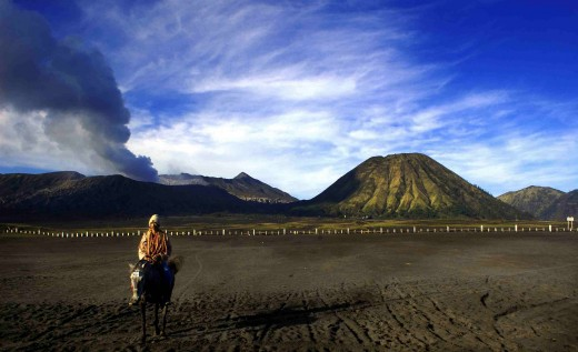 'sea of sand' and Bromo as a background