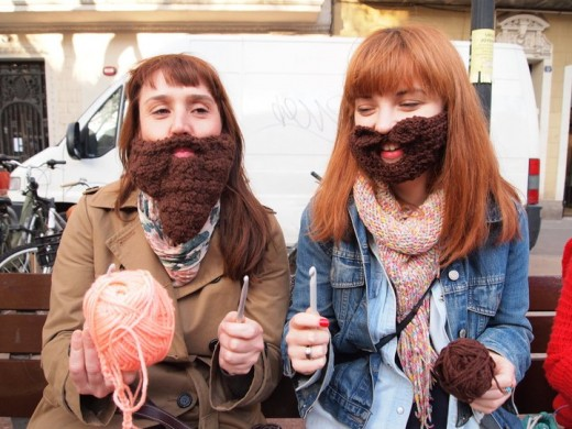 Bearded Ladies with Crochet Hoocks